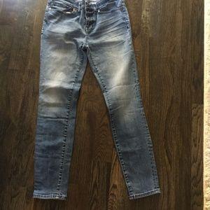 Madewell Skinny Skinny Washed Blue Denima (size28)